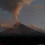 Mayon Volcano during sunrise