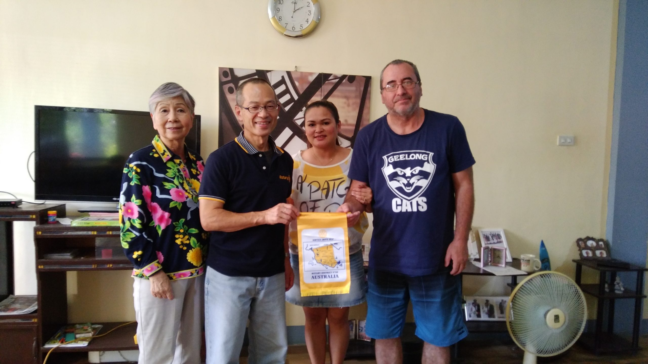 Donation from Rotary Club of Geelong Central, Australia